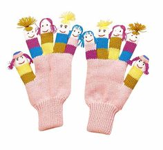 Cow Kidorable Kids Knitted Gloves//Mittens