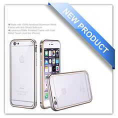 iPhone 6 Case, Zio [Aluminum Metal Frame] [All Clear Scratch-Resistant Clear Back Cover] [Shock Absorbent] iPhone 6 4.7'' Case [Iron Bumper] [2015 Model](iPhone 6-Silver) Zio http://www.amazon.com/dp/B00X5O6TLC/ref=cm_sw_r_pi_dp_CD2Nvb122Q4ER