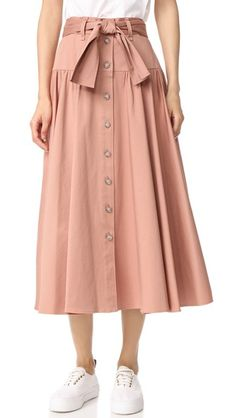 Rebecca Taylor Belted Skirt In Nude Glow Modest Fashion, Skirt Fashion, Fashion Outfits, Skirt Belt, Dress Skirt, Junior Fashion, Rebecca Taylor, Pretty Dresses, Dress To Impress