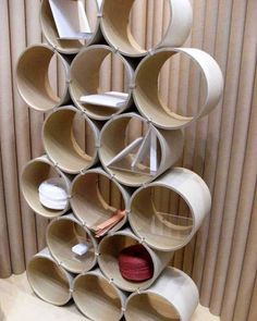 Designed by Takumi Shimamura of Qurz Inc. for Cuiora, the Shelf Maru is assembled from stacked cardboard tubes in the spirit of one of Japan's greatest living architects, Shigeru Ban. Cuiora is embracing the medium and is working on an entire collection of furniture and accessories based on paper.