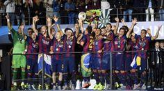 فصل رویایی بارسلونا با قهرمانی در اروپا به پایان رسید