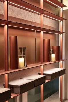 Cabinet Decor, Cabinet Furniture, Furniture Design, Shelf Design, Cabinet Design, Bookshelf Lighting, Small Home Offices, Retail Shelving, Luxury Dining Room