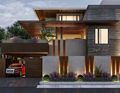 compound wall and gate designs for contemporary Modern Exterior House Designs, Modern Architecture House, Modern House Design, Exterior Design, Architecture Design, Wall Exterior, Bungalow Haus Design, Duplex House Design, House Front Design