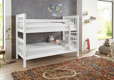 Wicky stapelbed 90x200. Beukenhout. €379 Inclusief 2 lattenbodems