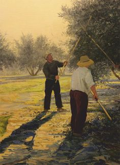 Barahona, Olive Tree, Nice, People, Painting, Art, Watercolour, Easy Watercolor, Christmas Illustration