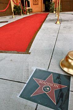 """hollywood theme- hollywood """"star"""""""