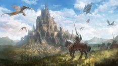 67 Fantasy and Medieval Buildings Cities & Castles Concept Art to Inspire You Homesthetics Inspiring ideas for your home Concept art Tangled concept art Castle art