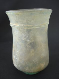 Ancient Roman Aquamarine Glass Cup : Antiquities