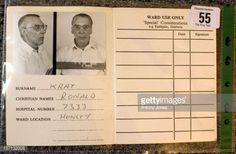 Interesting - Ronnie Kray's Patient Identification Visiting Card.