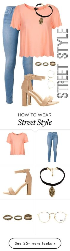 """""""STREET STYLE."""" by ligiamiirandaa on Polyvore featuring Topshop, Vanessa Mooney, Forever 21 and Ray-Ban"""