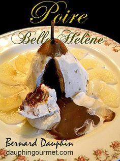 """Une version """"revisitée"""" de la poire Belle Hélène qui étonne toujours quand je la réalise car la sauce au chocolat chaude se trouve cachée à l'intérieur de la glace et s'écoule au moment où l'on tranche. INGREDIENTS POUR 6 personnes Glace ou de sorbet..."""