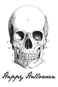 FREE Happy Halloween Skeleton Print