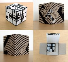 """Five different modular-typography-machines based on Rubik's Cube—at least three of which include packaging. 1. Jas Bhachu's """"Font Generator"""" """"Using a Rubik's cube I designed a set of stamps to be placed on four of the sides of the cube so users are able to create their own font."""" 2. Scott Kellum's """"TypeCube"""" """"The TypeCube …"""