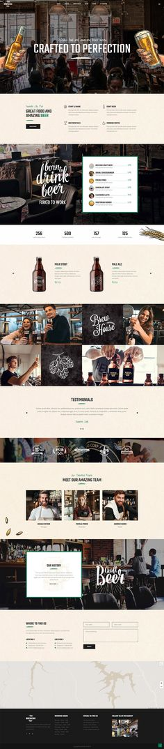 Bottoms up for Brewski, a pub and brewery WordPress theme crafted to perfection! The theme comes with options and layouts that will turn your website into a must-visit place for all the beer lovers. Website Layout, Web Layout, Layout Design, Banner Design, Web Design Tips, Web Design Trends, App Design, Mobile Design, Flat Design