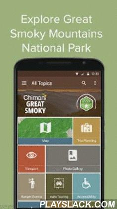 Great Smoky Mountains: Chimani  Android App - playslack.com ,  The Chimani Great Smoky Mountains National Park app boasts rich, detailed information on the unspoiled Appalachian woodlands and other attractions of this fascinating national park, including:• expert-written details on more than 300 unique points of interest (POIs)• a professionally voiced 60-minute audio-guided auto tour• GPS-enabled maps that work without a cell/wifi connection and can be custom edited and annotated• calendar…