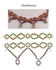 Seed bead jewelry necklace schema ~ Seed Bead Tutorials Discovred by : Linda Linebaugh Beading Patterns Free, Beaded Jewelry Patterns, Beading Tutorials, Bead Patterns, Beaded Earrings, Beaded Bracelets, Necklaces, Jewelry Crafts, Handmade Jewelry