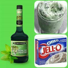 Mint Oreo Pudding Shots