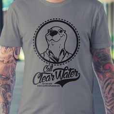 ClearWater plumbers industrial vintage t-shirt design by BadSyxn™