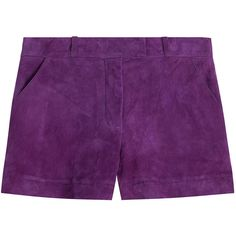 Emilio Pucci Suede Shorts (43,160 PHP) ❤ liked on Polyvore
