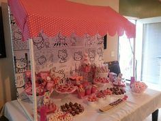 Dessert Table at a Hello Kitty Party #hellokitty #party
