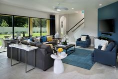 The Great Room in our Verona model overlooks the backyard or pool if you choose.