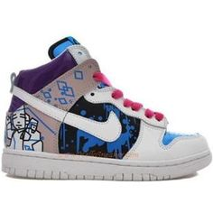 newest 21d95 6b65f Nike Dunks High Custom Women KJax Cartoon K02058