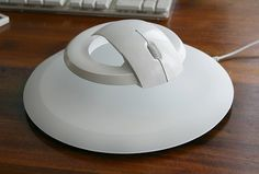 The levitating mouse ...the system aims to eliminate numbness, tingling, weakness, or muscle damage in the hand and fingers caused from over exposure to a mouse by elevating the controls to an ergonomic position.