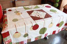 toalhas de mesa de natal em patchwork - Pesquisa Google
