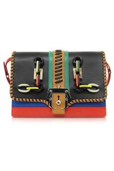 Paula Cademartori Tatiana Multicolor Leather Shoulder Bag