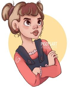 piggysart instagram facebook illustration drawing sketch  girl