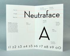 Neutraface Specimen Book by Amber Webster, via Behance