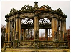 A once grand conservatory or orangery in Edinburgh, Scotland.