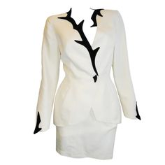 Thierry Mugler  Stunning Skirt suit with tags   From a collection of rare vintage suits, outfits and ensembles at http://www.1stdibs.com/fashion/clothing/suits-outfits-ensembles/