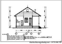 Bản vẽ thiết kế nhà cấp 4 số 1