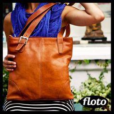 Tavoli Shoulder Bag is big enough to carry any size laptop - http://www.flotoimports.com/TavoliShoulderBag.html