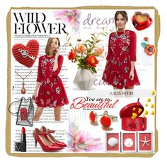 """This Spring I'm in love with red"" by cristianaradu ❤ liked on Polyvore featuring ASOS, NARS Cosmetics, National Tree Company, Louis Vuitton, etsyfru, FriendsRUs and FRU"