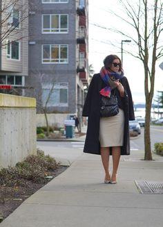Blaque Label Faux Leather Pencil Skirt