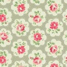 Cath Kidston - Provence Rose large Furnishing Fabric - Grey