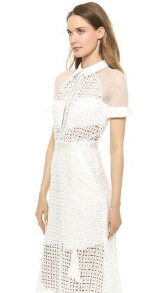 Self Portrait Pattern Play Lace Midi Dress #Refinery29