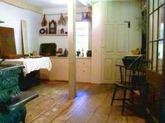 Louisa Alcott family's kitchen, it wasn't very big at all. In fact it was kind of small