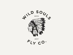 Wild Souls Fly Co. by Evan Travelstead Western Logo, Western Art, Design Retro, Ad Design, Graphic Design, Wall Collage, Wall Art, Western Photography, Music Drawings