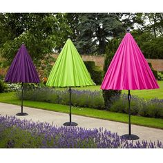 Hartman Shanghai Parasol 2.7m Available in six colours Pink/Lime/Linen/Purple/Aqua/Orange The vibrant shades of the Shanghai parasols are sure to add a touch of