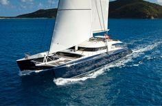 Hemisphere is the largest sailing catamaran in the world. At 145′ LOA with a 54'6″ beam and an awe-inspiring 174′ mast, this Pendennis sailing mega yacht is literally the only one of it's kind.
