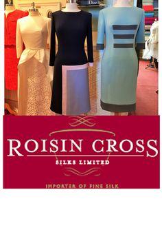 Roisin Cross Silks Dublin large collection of silk fabrics for sale including brocade silk, silk satin, silk velvet and wool crepe call us on 01 2846282 Groom Dress, Silk Fabric, Silk Satin, Mother Of The Bride, Peplum Dress, Velvet, Wool, Formal Dresses, Prints