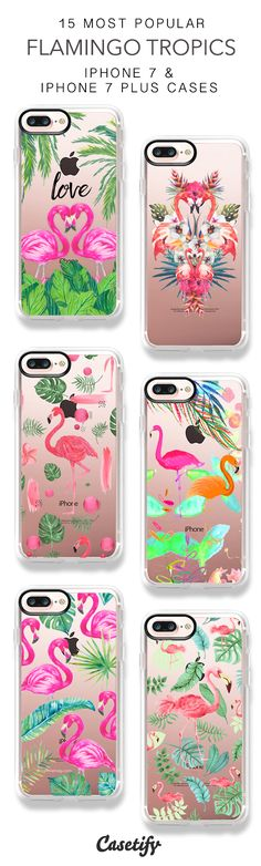 15 Most Popular Flamingo Tropics Protective iPhone 7 Cases and iPhone 7 Plus Cases. More Tropical iPhone case here > https://www.casetify.com/collections/top_100_designs#/?vc=e1pl5Nvw6C