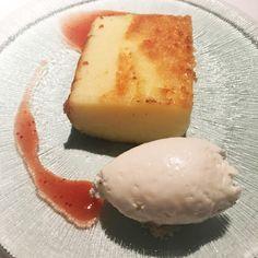 Tarta de queso fresco de Burgos. Restaurante Tatel. Madrid.