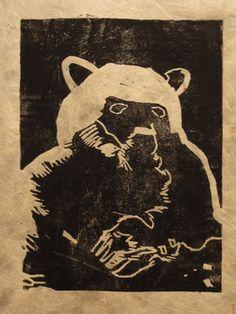 Illustration bear print