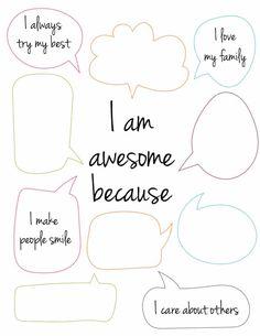 4 Free Printable Self Esteem Worksheets - Freebie Finding Mom