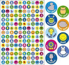 The Sticker Factory 10 mm Mini Caption Compilation Reward Sticker (Pack of 750 Stickers) Teacher Stickers, Reward Stickers, Kids Rewards, Award Certificates, Toddler Activities, A5, Captions, Kindergarten, Awards