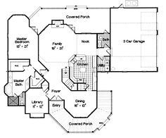Home Plans HOMEPW13211 - 3,139 Square Feet, 4 Bedroom 3 Bathroom Queen Anne Home with 3 Garage Bays